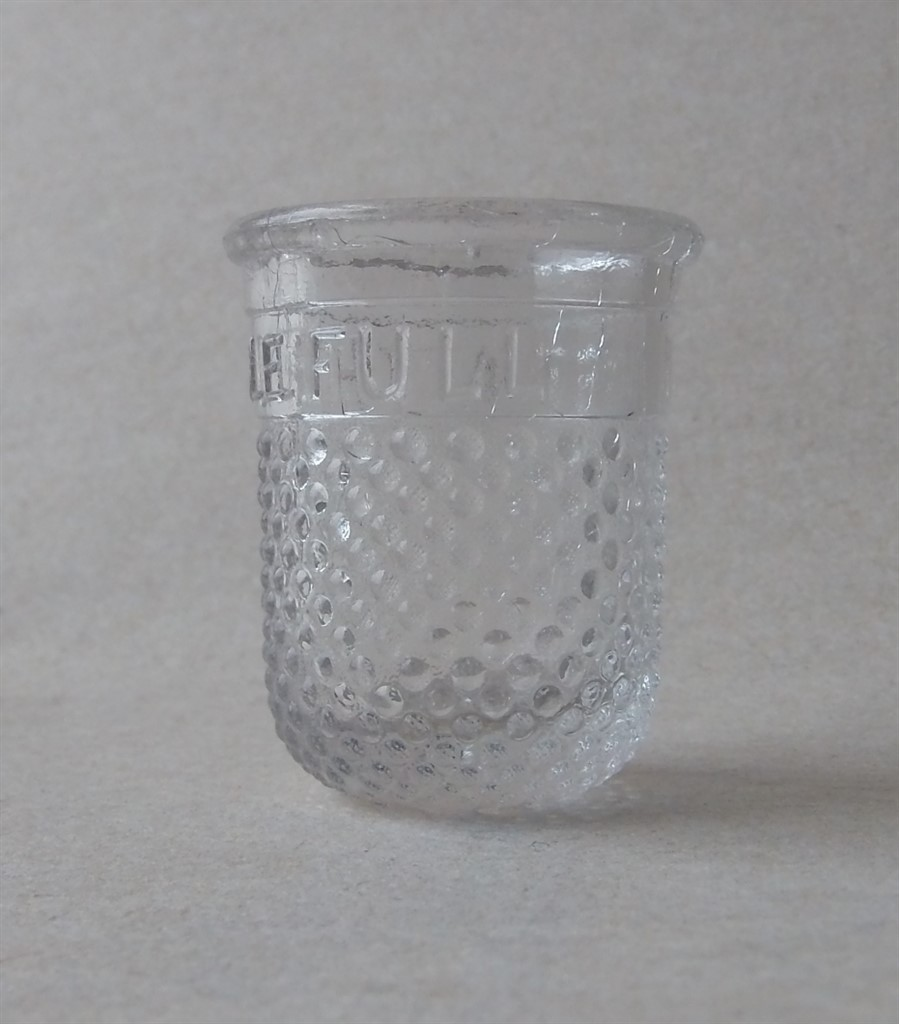 Vintage Novelty Moulded Thimble Shot Tot Drinking Glass